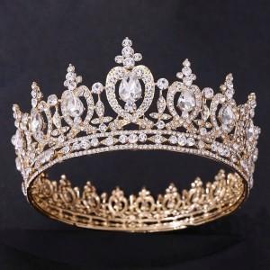 Корона полного круга Gold «Дафна» 6 см