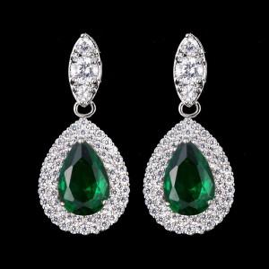 Ювелирные серьги «Emerald» 3,6 см