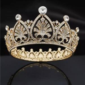 Корона полного круга gold «Сердце» 6 см