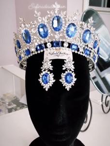"""Серьги с сине-голубыми кристаллами «SnowQueen"""""""