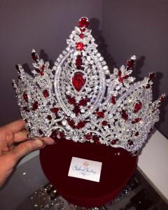 Эксклюзивная корона Swarovski Red 13,5 см