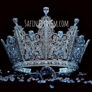 Эксклюзивная корона Swarovski «Адель» 13 см Под заказ