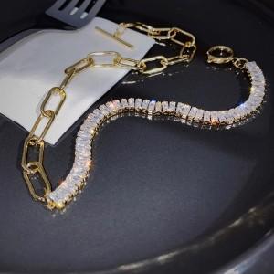 Чокер Gold с цирконами «Лурдес»