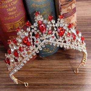 Диадема с красными кристаллами «Амина» 6 см