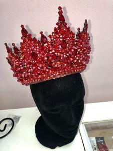 Корона ручной работы «Lady in Red» 15 см Под заказ