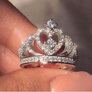 "Серебряное кольцо ""Princess"""