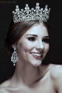 """Корона """"Елизавета"""" Swarovski 7,5 см"""