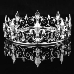 Мужская корона Silver 5,5 см