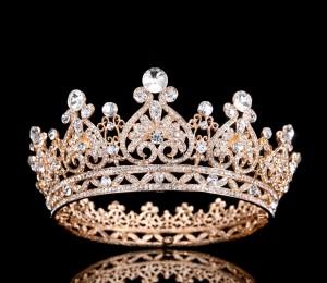 """Корона полного круга Gold """"Паулина"""" 7 см"""