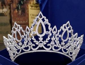 """Ювелирная корона """"Элеонора"""" 10 см"""