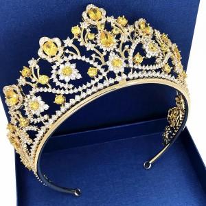 """Ювелирная корона """"Цитрин"""" 7 см Под Заказ"""