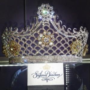 "Эксклюзивная корона Swarovski ""Жозефина"" 13 см"