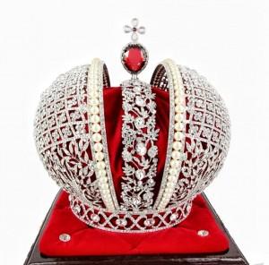 Корона Российской Империи Swarovski на подставке Под заказ