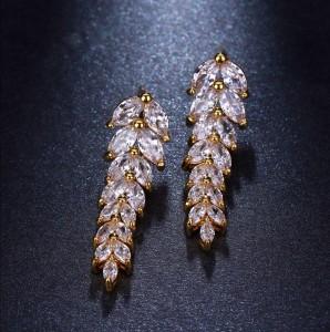"""Ювелирные серьги Gold """"Маркиз"""" 3,1 см"""