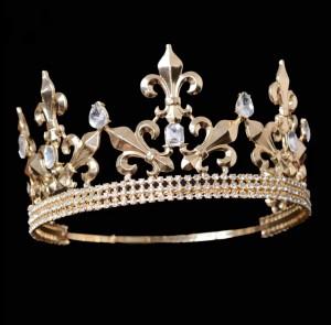 """Мужская корона полного круга """"Король Артур"""" 8,5 см"""