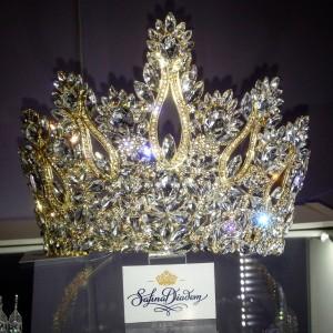 """Конкурсная эксклюзивная корона Gold """"Queen"""" 13 см"""