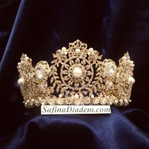 "Корона ручной работы Gold ""Афина"" 7,5 см под заказ"
