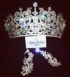"""Эксклюзивная корона """"Маргарет"""" Silver 8 см Под заказ"""