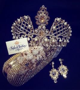 """Эксклюзивная корона Gold """"Империя"""" 9,5 см"""