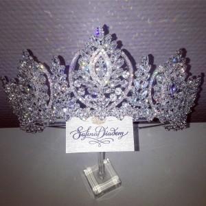"""Ювелирная корона Zircon """"Августа"""" 7 см"""