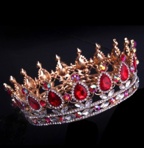 Корона с красными кристаллами AB, 5 см ПОД ЗАКАЗ